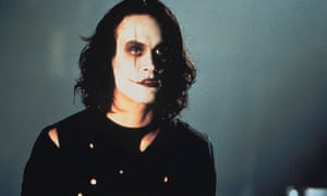 Superimposed star … Brandon Lee in The Crow.