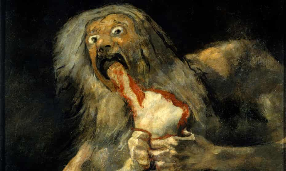 'Shock at his own monstrousness' … detail from Saturn Devouring His Son, 1820-23, by Goya, on show in Madrid.