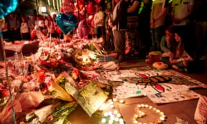 People remember the victims of the Manchester Arena bombing on the first anniversary of the attack