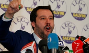 Matteo Salvini, leader of the far-right Northern League, was one of the winners in Italy's election.