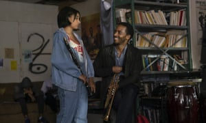 Amandla Stenberg and Andre Holland in The Eddy.