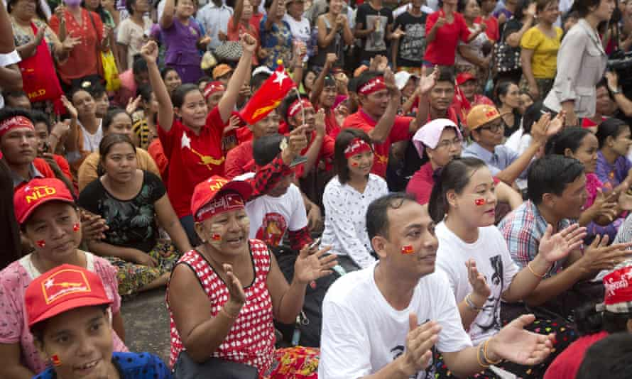 Supporters of NLD