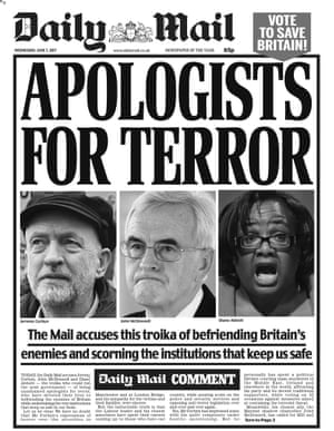 Daily Mail front page, Wednesday 7 June 2017