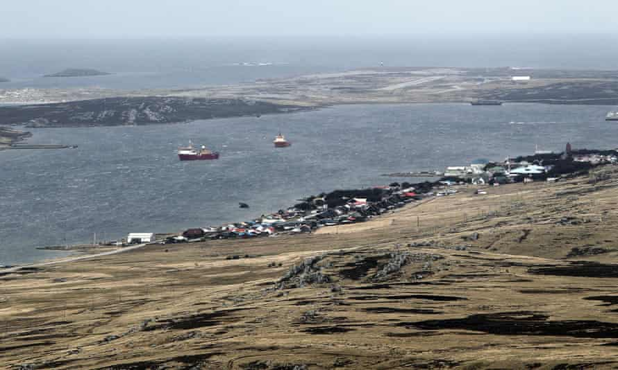 A general view of Stanley, Falkland Islands.