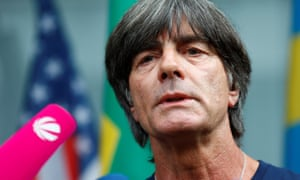 Germany coach Joachim Löw speaks to the press after his team's return from the World Cup.