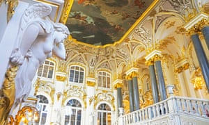The Marble Room, in the Winter Palace in St Petersburg.