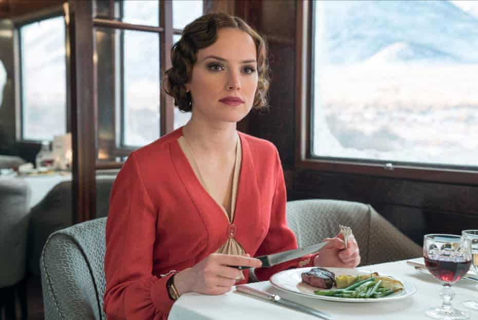 Actor Daisy Ridley playing Mary Debenham in Murder On The Orient Express.