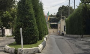 Entrance to the government hospital in Tashkent where Karimov was being treated