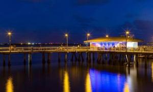 fathom bistro on pier over water