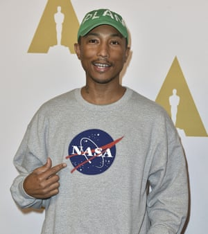 Pharrell Williams at the 2017 Oscars