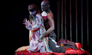 At its most unbearable when it is most restrained … Anne Sophie Duprels as Iris and Noah Stewart as Osaka in Iris.
