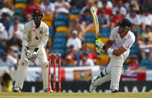 Kevin Pietersen switch hits for England at the Kensington Oval in 2009.