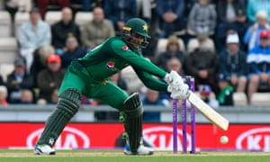 Fakhar Zaman of Pakistan gets an edge and is caught behind by Jos Buttler of England.