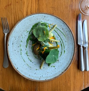 Garden artichoke with spinach puree at Zin House