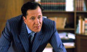 Geoffrey Rush in the 2001 film version of The Tailor of Panama.