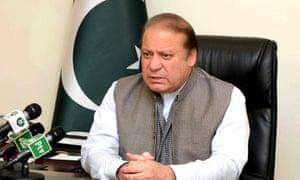 Pakistan's prime minister, Nawaz Sharif.