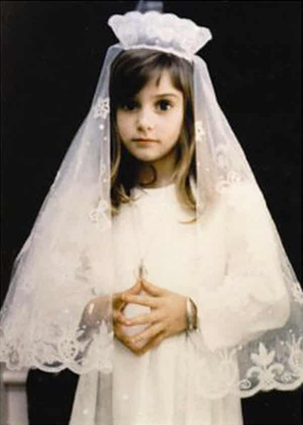 Sinéad O'Connor in her communion dress