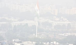 Smog in Delhi on the morning after Diwali