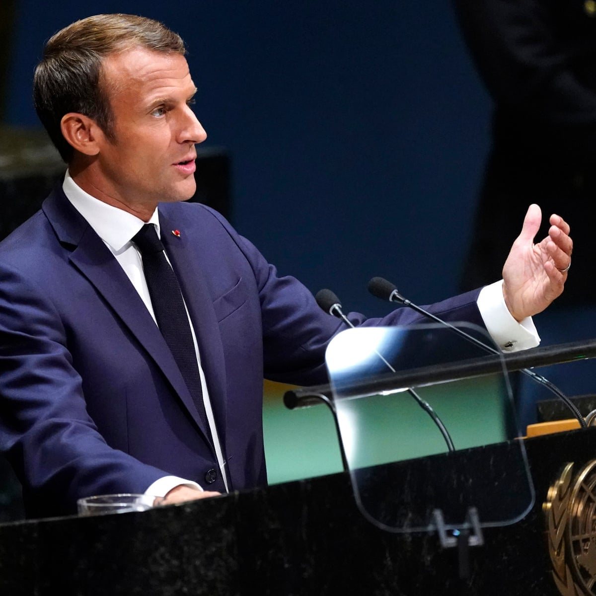 Un Summit Macron Says Us And Iran Must Resume Nuclear Talks As It Happened World News The Guardian