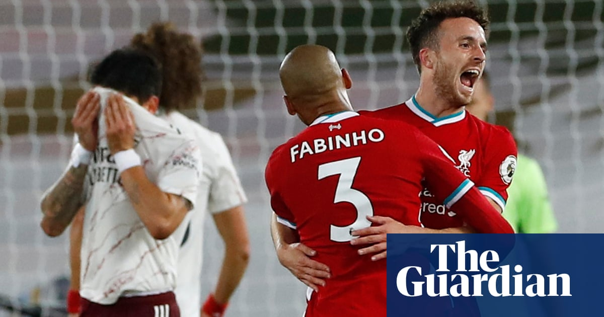 Diogo Jota makes his mark as Liverpool prove too strong for Arsenal