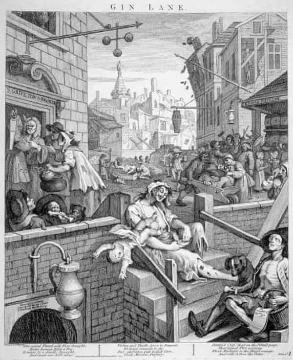 Gin Lane, by William Hogarth, depicted St Giles in 1751.
