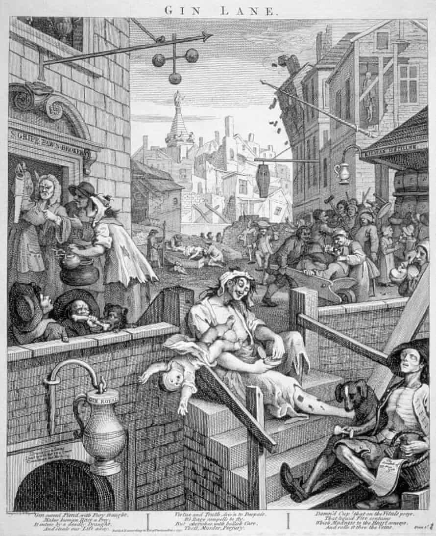 Gin Lane by William Hogarth, 1751