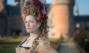 Lucy Worsley as Marie Antoinette in Royal History's Biggest Fibs.