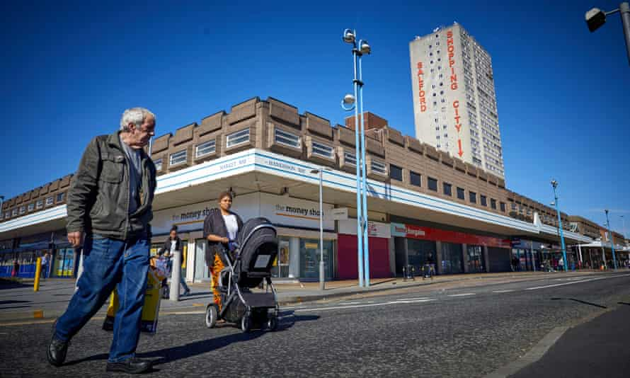 Salford Shopping City has suffered as big names pulled out and the weekly market disappeared.