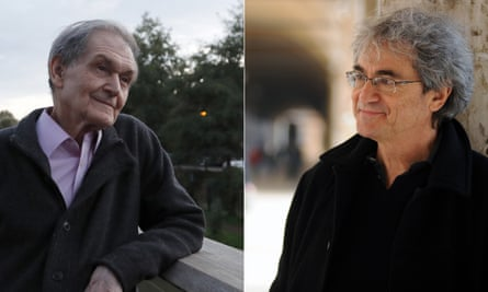 Roger Penrose in Oxford in 2020, and Carlo Rovelli in Bologna in 2018.