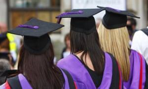 women in graduation dress