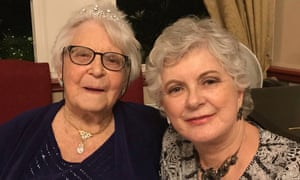 Audrey Symons celebrates her 100th birthday with her daughter Sandra