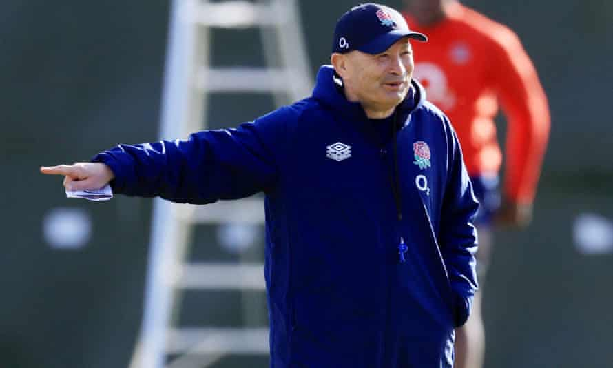 Eddie Jones pictured at England training in March