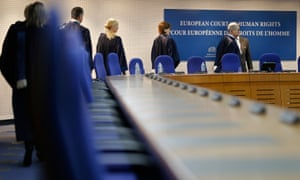 Judges at the European court of human rights in Strasbourg.