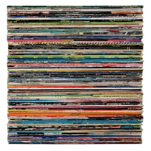 Disco records photographed by artist Mark Vessey