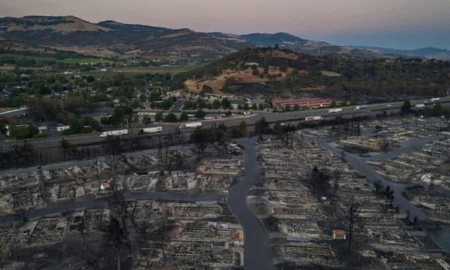 The Bear Lakes Estates neighborhood in Phoenix, Oregon, was devastated by the Almeda fire.