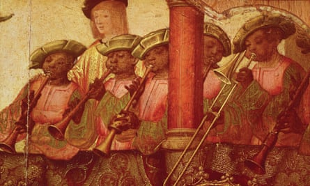 Black musicians in a Portuguese painting c 1520