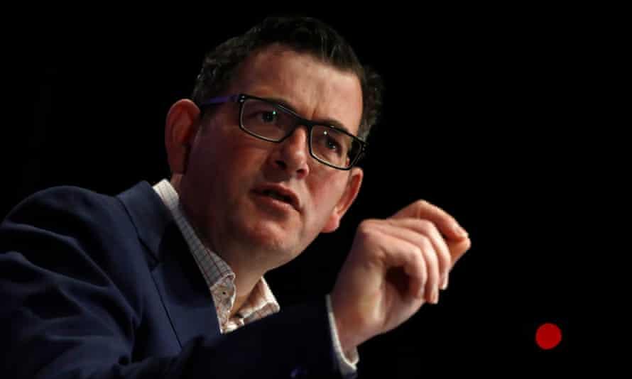 Victorian premier Daniel Andrews speaks during the daily coronavirus briefing on Wednesday