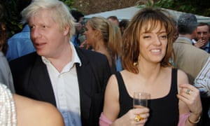 Boris Johnson and Petronella Wyatt at the Spectator summer party at the magazine's offices in Doughty Street, London in July 2006.