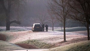Armed police patrol the golf course at The Grove hotel