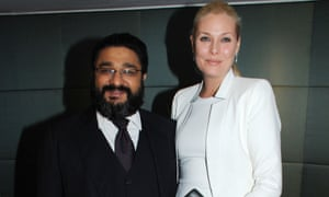 Angad Paul with his wife, Michelle Bonn