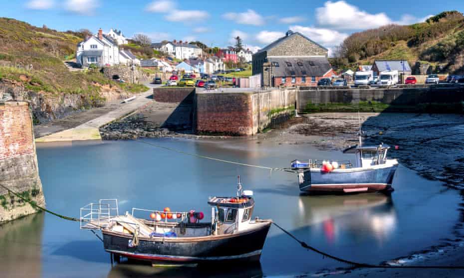 'A pretty hamlet': Porthgain, Pembrokeshire.