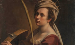 Self Portrait as Saint Catherine of Alexandria by Artemisia Gentileschi.