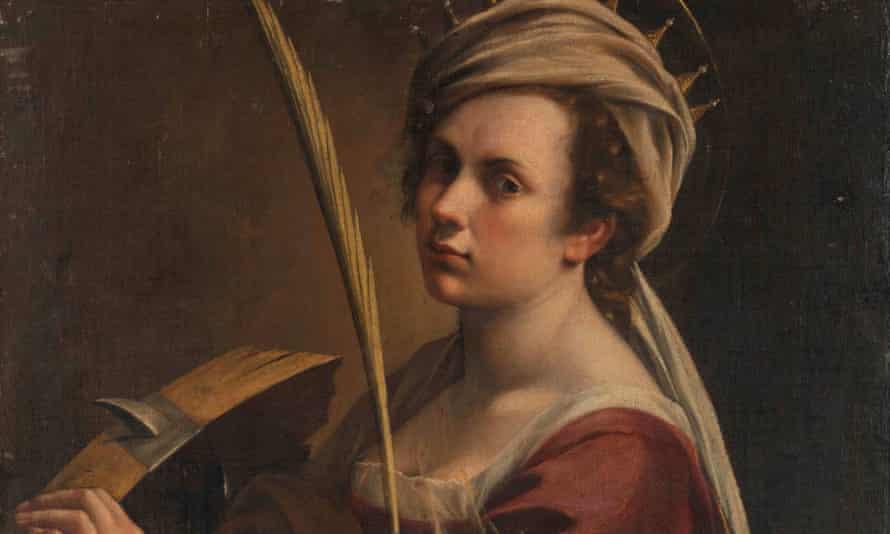Self Portrait as Saint Catherine of Alexandria by Artemisia Gentileschi.