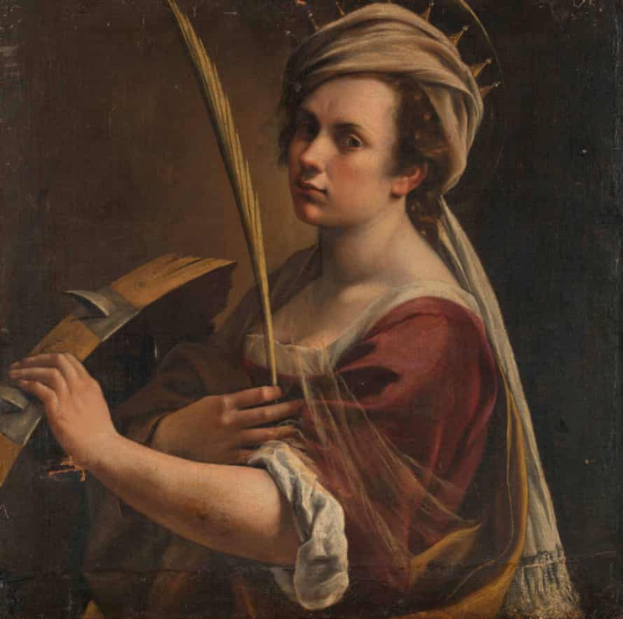 A stunning collision of art and reality that sends an intimate message from the 1600s ... Self-Portrait as Saint Catherine of Alexandria.