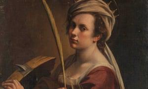 Self-Portrait as Saint Catherine of Alexandria, by Artemisia Gentileschi, about 1615-17.