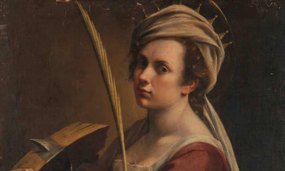 Detail from Self Portrait as Saint Catherine of Alexandria by Artemisia Gentileschi