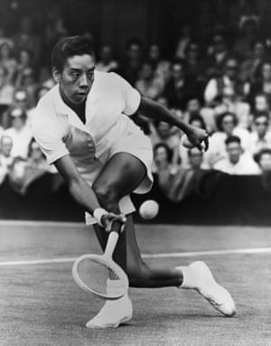 1950sAlthea Gibson was the the first black singles champion at Wimbledon. The outfit she wore to win, a cap-sleeved Fred Perry polo shirt and pleated skirt, is now owned by the National Museum of American History.