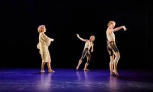 Hannah Ringham, choreographer Tara D'Arquian and Laura Doehler in Bad Faith