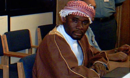 Hassan Ngeze, former editor of the Kangura newspaper, during a hearing in 2003.
