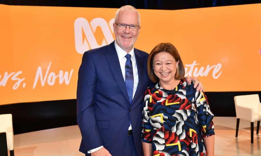 ABC chairman Justin Milne (left) and managing director Michelle Guthrie